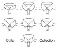 Vector Collar Collection. With white background Stock Photos