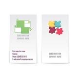 Vector collectief adreskaartjemalplaatje met twee kanten Modern en minimalistisch Royalty-vrije Stock Afbeeldingen