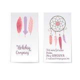 Vector collectief adreskaartjemalplaatje met twee kanten Modern en minimalistisch Vector Illustratie