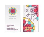 Vector collectief adreskaartjemalplaatje met twee kanten Modern en minimalistisch Stock Afbeeldingen