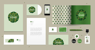 Vector collectief ontwerp voor bedrijfskunstwerken Stock Afbeelding