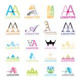 vector Collectieve Emblemen Royalty-vrije Stock Afbeeldingen