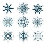 Vector collection of abstract snowflakes Royalty Free Stock Photo