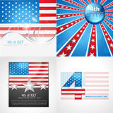 Vector collection of american flag design Royalty Free Stock Photos
