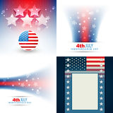 Vector collection of american flag design illustration Royalty Free Stock Images