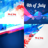 Vector collection of american independence day background. Vector collection of american flag design illustration with creative pattern Royalty Free Stock Photography