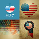 Vector collection of american independence day background illust. Vector collection of american independence day flag design background illustration Stock Photo