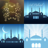 Vector collection of attractive background of eid festival illus Royalty Free Stock Image