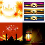 Vector collection of attractive background of eid festival illus Stock Image