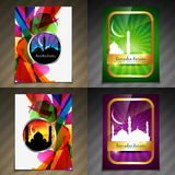 Vector collection of attractive background of eid festival Stock Photography