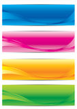 Vector collection of banners. Abstract Background for web banner Vector illustration Stock Image