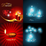 Vector collection of beautiful background of diwali design Stock Photo