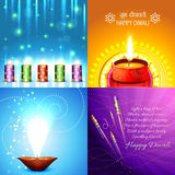 Vector collection of beautiful background of diwali design Stock Image