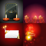 Vector collection of beautiful diwali background Stock Image