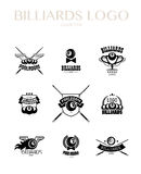Vector collection of billiard logo. Royalty Free Stock Photos