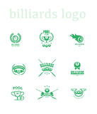 Vector collection of billiard logo. Royalty Free Stock Photography