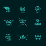 Vector collection of billiard logo. Royalty Free Stock Images