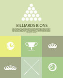Vector collection of billiard logo. Royalty Free Stock Image