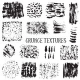 Vector collection of black ink abstract grunge textures. Stock Photo