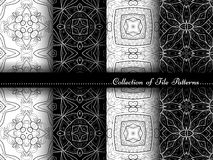 Vector Collection of Black and White Seamless Vintage Patterns Royalty Free Stock Image