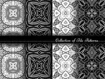 Vector Collection of Black and White Seamless Vintage Patterns Stock Photo