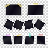 Vector Collection of blank photo frames sticked on duct tape Royalty Free Stock Images