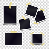 Vector Collection of blank photo frames sticked on duct tape Royalty Free Stock Photography