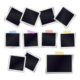 Vector Collection of blank photo frames sticked on duct tape Stock Images