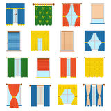 Vector collection blinds. Royalty Free Stock Image
