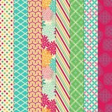 Vector Collection of Bright and Colorful Backgrounds Royalty Free Stock Image