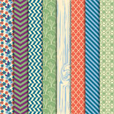 Vector Collection of Bright and Colorful Backgrounds or Digital Papers. In Masculine Colors Royalty Free Stock Image
