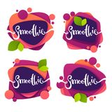 Vector collection of bright and shine  stickers, emblems and ban Stock Photography