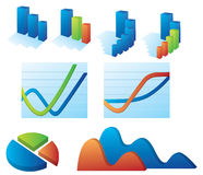 Vector collection of business elements Stock Image