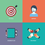 Vector collection business, marketing and finance concepts. Design elements for web and mobile applications. Flat. Illustration Royalty Free Stock Images