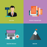 Vector collection business, marketing and finance concepts. Design elements for web and mobile applications. Flat vector. Illustration Royalty Free Stock Images