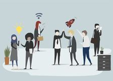 Vector collection of business people Royalty Free Stock Photo