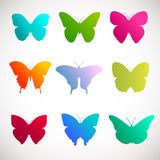 Vector collection of butterflies. Stock Photo