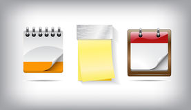 Vector collection of calendar icons Royalty Free Stock Photos