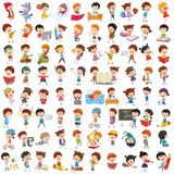 Vector Collection Of Cartoon Children. Eps 10 royalty free illustration