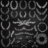 Vector Collection of Chalkboard Laurels Royalty Free Stock Image