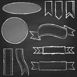 Vector Collection of Chalkboard Style Banners Royalty Free Stock Photo