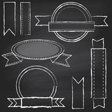 Vector Collection of Chalkboard Style Banners Royalty Free Stock Image