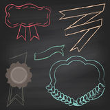 Vector Collection of Chalkboard Style Banners Stock Photos
