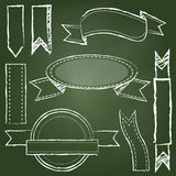 Vector Collection of Chalkboard Style Banners Royalty Free Stock Photography