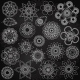 Vector Collection of Chalkboard Style Flowers Stock Photos
