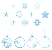 Vector collection Christmas design elements Royalty Free Stock Image