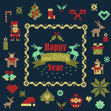 Vector collection of christmas items Stock Photo