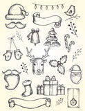 Vector collection of Christmas and New year's elements Royalty Free Stock Image