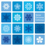 Vector collection: christmas and new year snowflakes icons Royalty Free Stock Photos