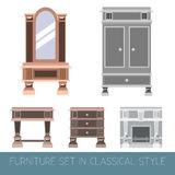 Vector collection of classical furniture. Stock Photos